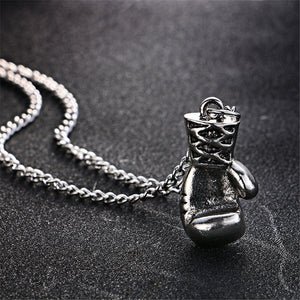 Boxing Glove Pendant Necklace