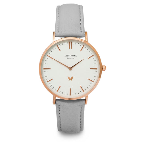 Notting Hill - White, Stone Leather strap