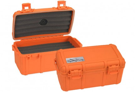 The Cigar Caddy 15 Orange Humidor