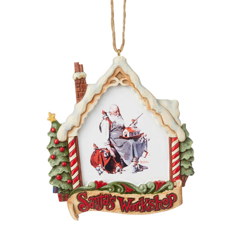 Santa in Workshop Ornament