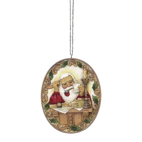 Santa At Desk Ornament