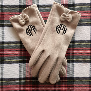 KPK Monogram Bow Gloves