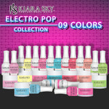 Kiara Sky 3in1 Full line of 9 Colors - Dipping Powder + Gel Polish + Nail Lacquer , Electro Pop Collection (from DGL 612 to DGL 620)
