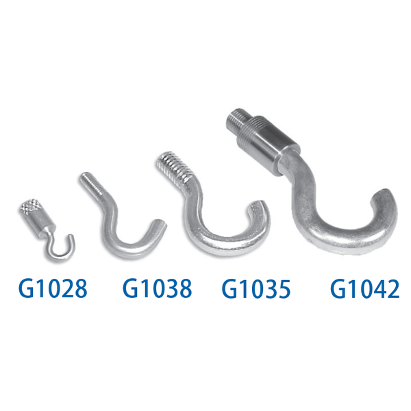 G1028, G1038, G1035, G1042<br> Hook Attachments<br> Mark-10, Force Gauge Attachments