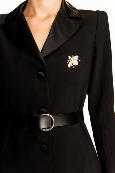 Gold Big Bee Broach - Brooch Pin