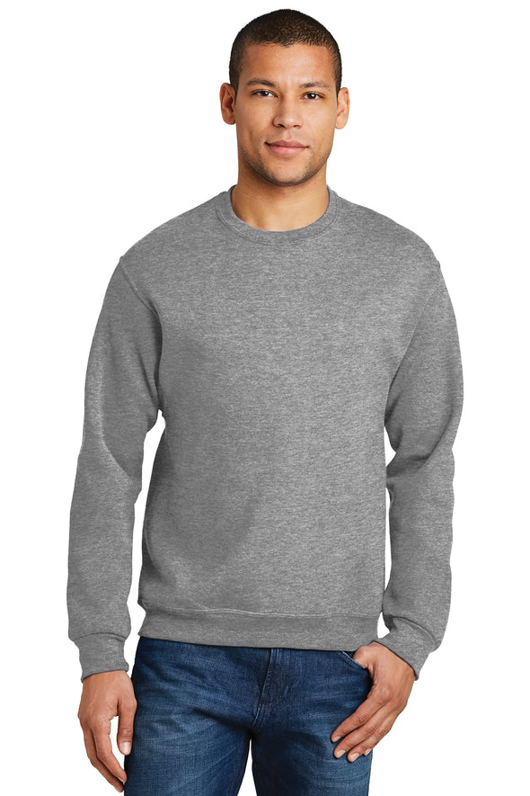 Blank sport grey Oxford crew neck sweatshirt