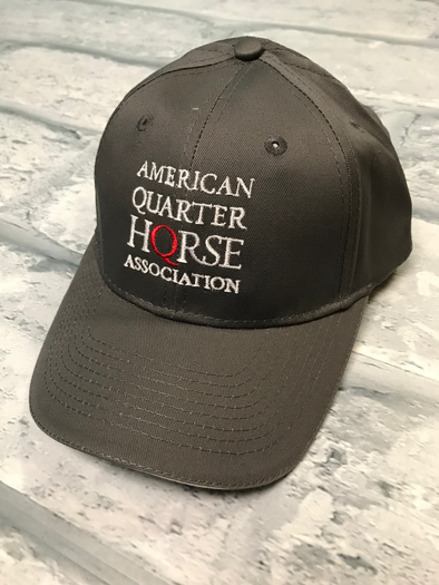 Stacked AQHA Grey and white sandwich bill cap