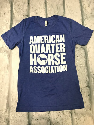 Heather Royal Stacked AQHA Circle Horse Tee