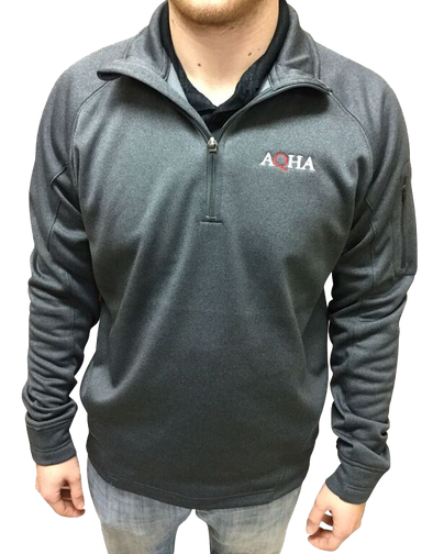 AQHA Grey Fleece 1/4 Zip