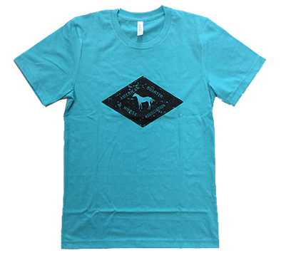 Black AQHA Diamond Sea Green Tee