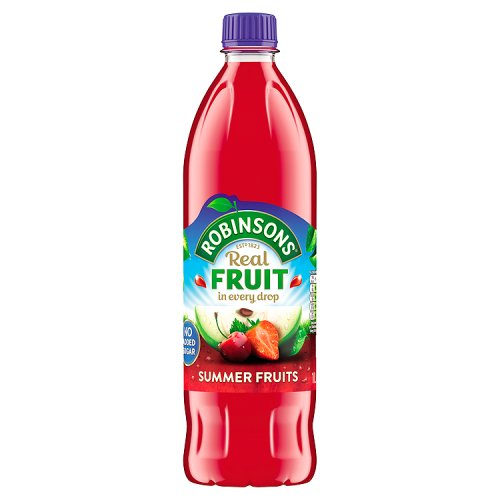 Robinson's Summer Fruits Cordial Squash No Added Sugar 1Ltr