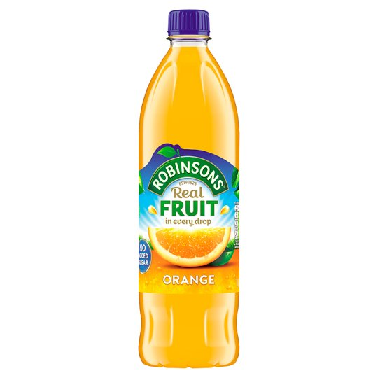 Robinsons Orange Cordial Squash No Added Sugar 1Ltr