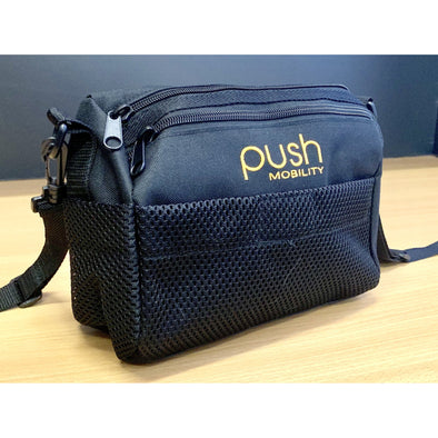 Push Mobility under seat bag, click on and removable