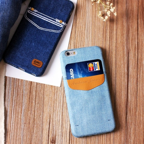 Jeans iPhone Case With Card Pocket