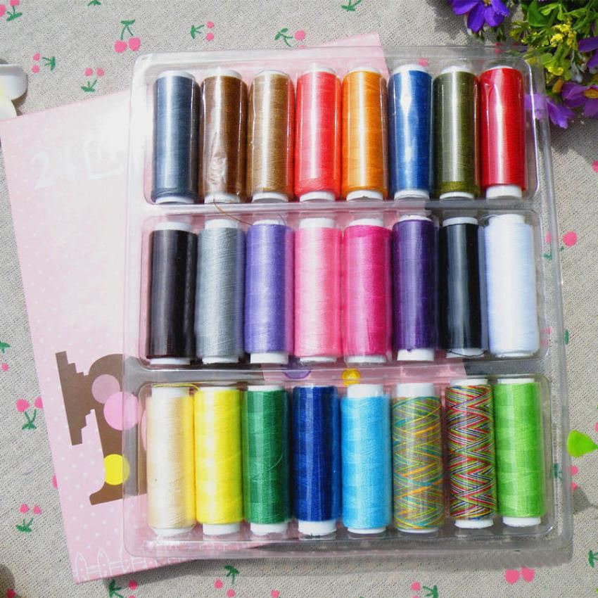 New 24 Lot Polyester Spools All Purpose Sewing Needle And Quilting Threads