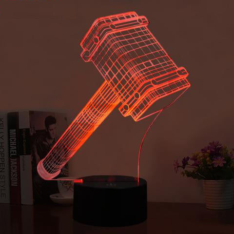 Home Night Light-Thors Hammer-Acrylic plate-3D illusion - KarmaCraze