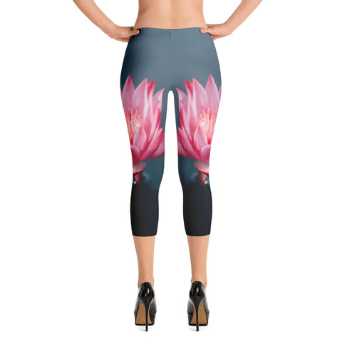 KarmaGear-Leggings-Capri-Lotus Flower-For Women