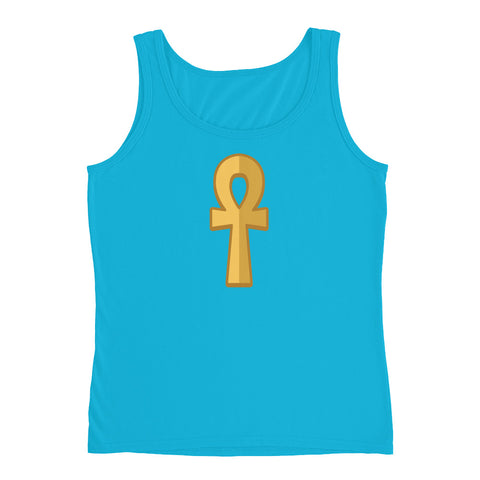 KarmaGear-T-Shirt Tank Top-Ankh-Cotton-For Women
