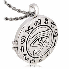 Necklace/Locket-Eye of Horus-Silver color - KarmaCraze