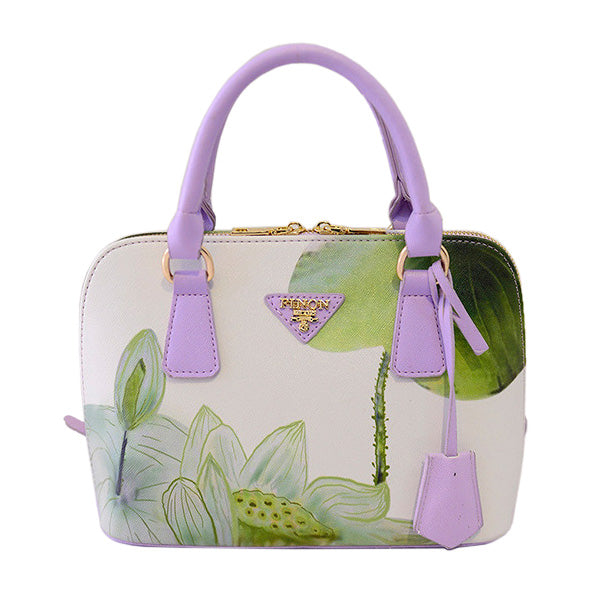 KarmaShine- Handbag-Lotus Flower-Leather