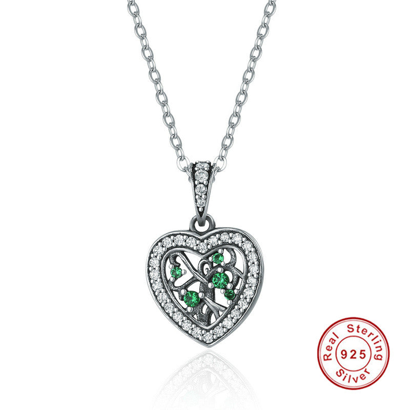 KarmaShine- Necklace-Tree of Life-925 Sterling Silver-Cubic Zirconia