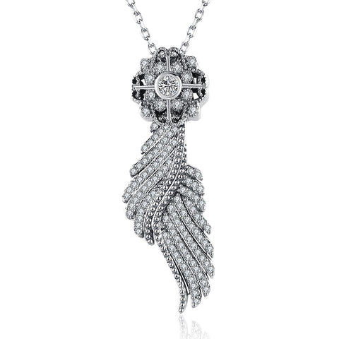 KarmaShine-Necklace-Isis Goddess-925 Sterling Silver-Cubic Zirconia