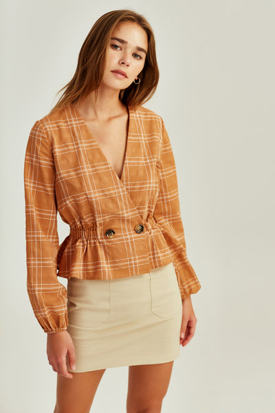 The Fifth Label - Hummingbird Check Long Sleeve Top