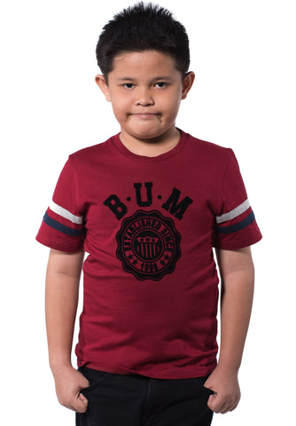 B.U.M Equipment Children Round Neck Tee (MD RED)