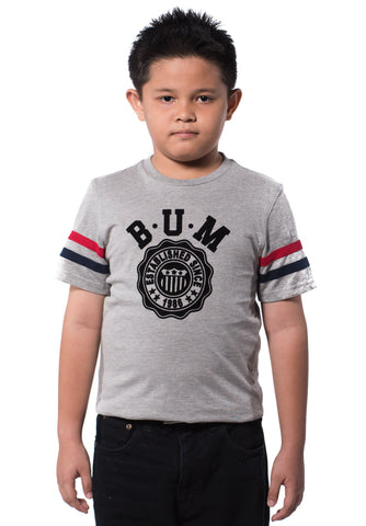 B.U.M Equipment Children Round Neck Tee (MD GREY)