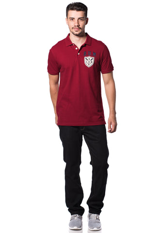B.U.M Equipment Men Polo Tee-S/S (MD. RED)