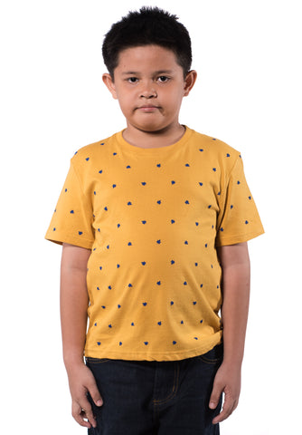 B.U.M Equipment Children S/S Round Neck-Full Print (MD YELLOW)