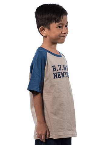 B.U.M Equipment Children Round Neck Tee S/S (MD KHAKI)