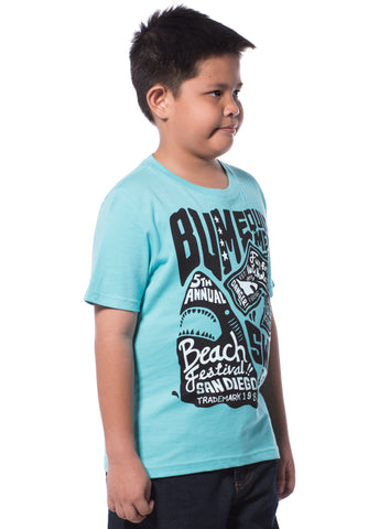 B.U.M Equipment Children Round Neck S/S (MD BLUE)
