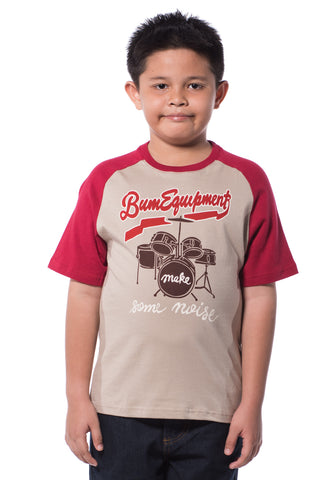 B.U.M Equipment Children Round Neck S/S (MD KHAKI)