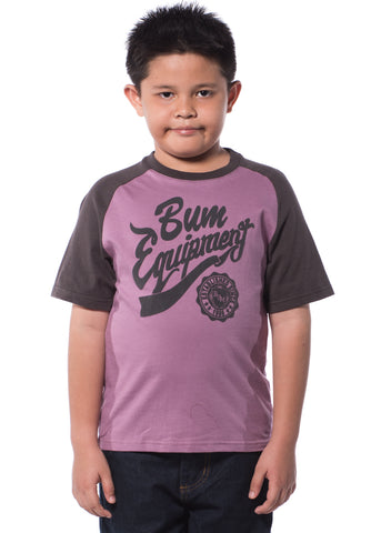 B.U.M Equipment Children Round Neck S/S (MD PINK)