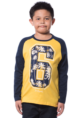B.U.M Equipment Children Round Neck L/S (MD YELLOW)