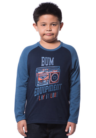 B.U.M Equipment Children Round Neck L/S (MD NAVY)