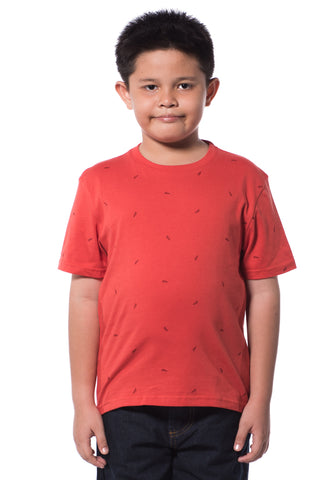 B.U.M Equipment Children S/S Round Neck-Full Print (MD RED)