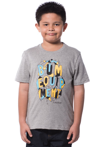 B.U.M Equipment Children Round Neck S/S (MD GREY)