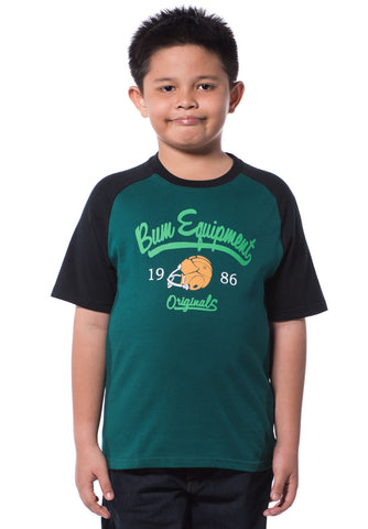 B.U.M Equipment Children Round Neck S/S (MD GREEN)