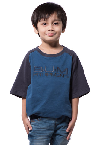 B.U.M Equipment Children Round Neck Tee S/S (MD BLUE)
