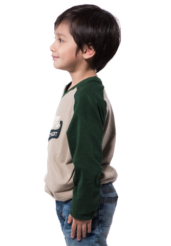 B.U.M Equipment Children Round Neck Tee L/S (MD KHAKI)