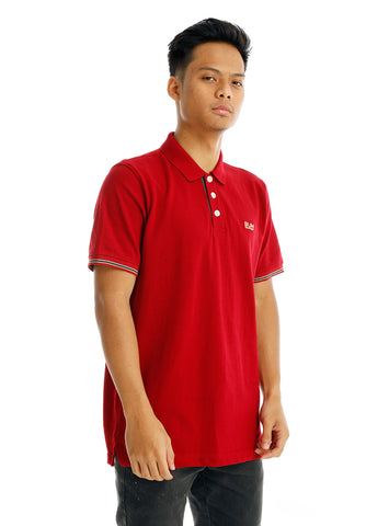 B.U.M Equipment Men Polo Tee-S/S (MD. MAROON)