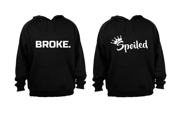Broke & Spoiled - Couples Hoodies (1 Set) - BuyAbility South Africa