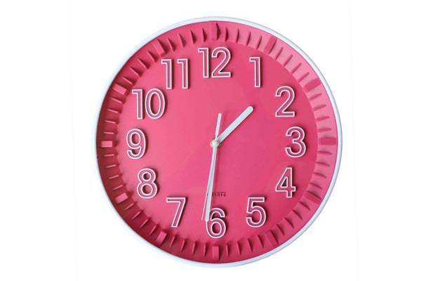 Retro Pink Clock - BuyAbility South Africa