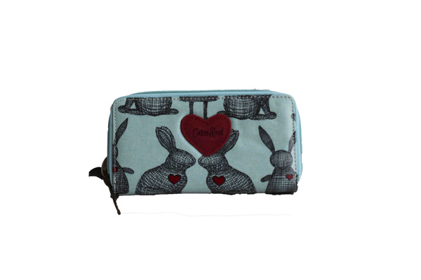 Blue Large Purse with Rabbit Design (200mm x 100mm) - BuyAbility South Africa
