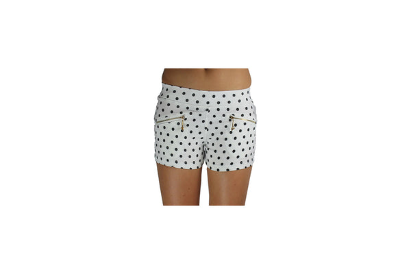 White Women's Shorts With Black Polka dots - BuyAbility South Africa