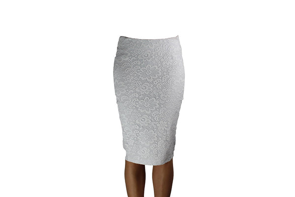 White Skirt with Lace Pattern Design - BuyAbility South Africa