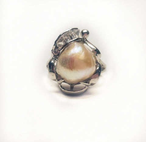 Rings Angel Pearl ring. Ivory - Living in Style with Olga