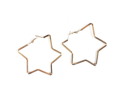 Star earrings, large.